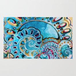 Blue mandala Rug
