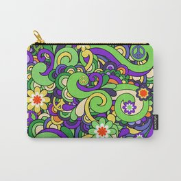 Colorful Hippie Swirl Pattern 3 Carry-All Pouch