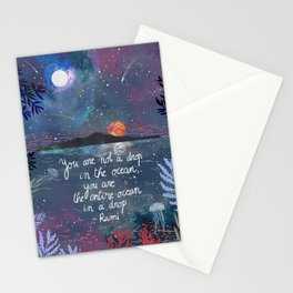 Rumi Quote Stationery Cards