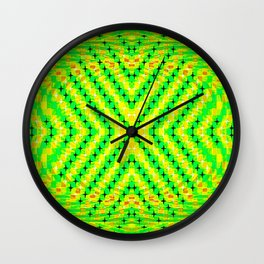 FLUX #4  Optical Illusion Vibrant Colorful Psychedelic Trippy Design Wall Clock