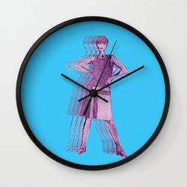 Purple Fashion Parade Wall Clock