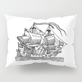 Ship Barco Bateau Schiff лодка Pillow Sham