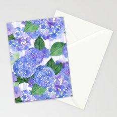 Hydrangeas and Stripes Stationery Cards