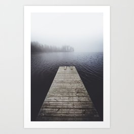 Fading into the mist Art Print