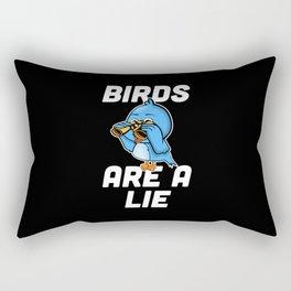 Birds are a Lie funny bird watching gift Rectangular Pillow