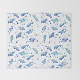 dugong Throw Blanket