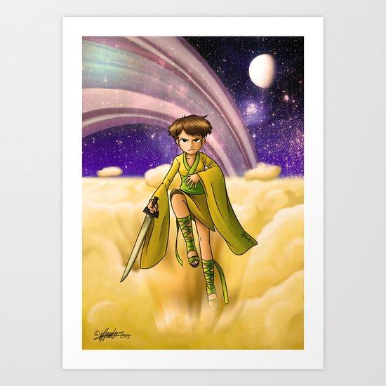 Saturn Princess (Revision) Art Print