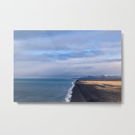 BLACK BEACH - iceland Metal Print