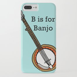 B is for Banjo, typed. iPhone Case