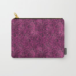 Pink and Black Lace Carry-All Pouch