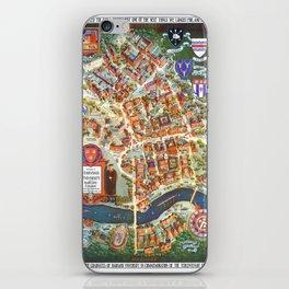 HARVARD University map MASSACHUSETTS iPhone Skin