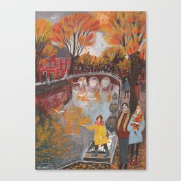 The tumult of autumn Canvas Print