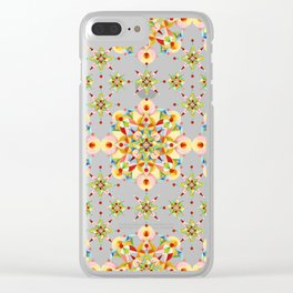 Sparkly Carousel Confetti Clear iPhone Case