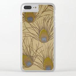 Peacock Screenprint Clear iPhone Case