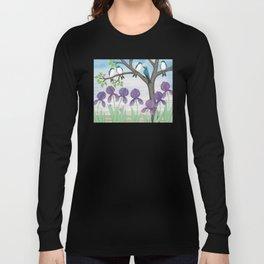 tree swallows & irises Long Sleeve T-shirt