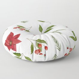 Get to the Poinsettia Floor Pillow
