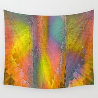 industrial Wall Tapestries featuring Industrial Wings Sunset Colors by Jennifer Warmuth Art And Design