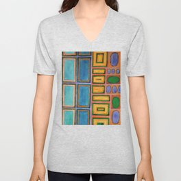 Gemstones beside the Window  Unisex V-Neck