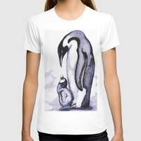 penguins T-shirts featuring Penguins by Heather Lamb