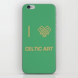 I heart Celtic Art iPhone Skin