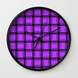 Large Light Violet Weave Wall Clock