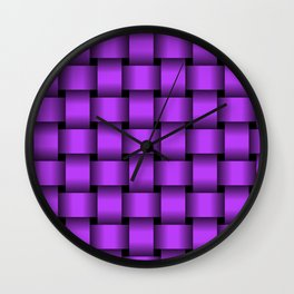 Large Light Violet Weave Wall Clock