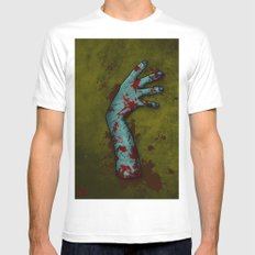 Zombie Arm Mens Fitted Tee White MEDIUM