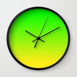 CHAMELEON GREEN & YELLOW Neon color ombre pattern  Wall Clock