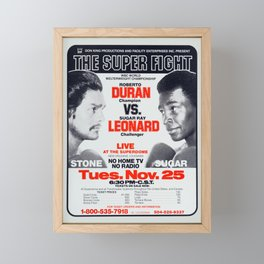 Classic Fight Poster Composition Framed Mini Art Print