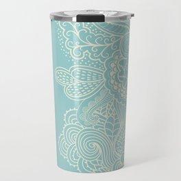 Abstract Nature In Aqua Travel Mug