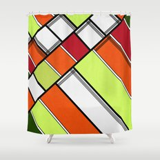 Lined II Shower Curtain
