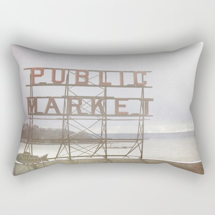Public Market Rectangular Pillow