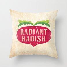 Radiant Radish Throw Pillow