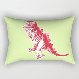 Dino Pop Art - T-Rex - Lime & Red Rectangular Pillow