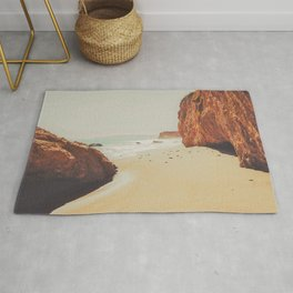 Beach Day - Ocean, Coast - Landscape Nature Photography Rug