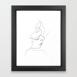 Close on white Framed Art Print