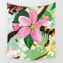 Tree for Bees and other pollinators Wall Tapestry
