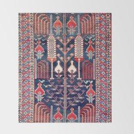 Luri Bakhtiari West Central Persian Rug Print Throw Blanket