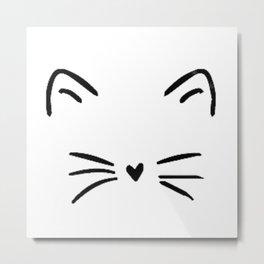 Cute Cat  Kitty Kitten Metal Print