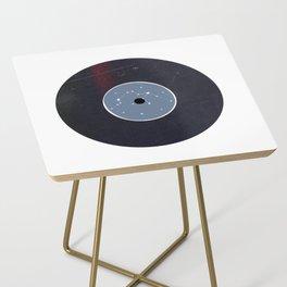 Vinyl Record Star Sign Art | Aquarius Side Table
