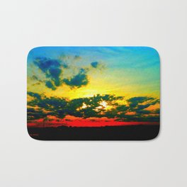 Curdled Clouds Bath Mat