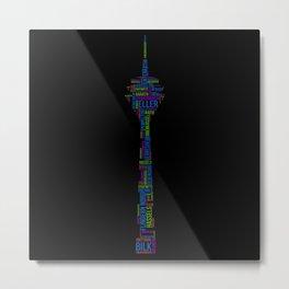 Dusseldorf Rhine Tower Metal Print
