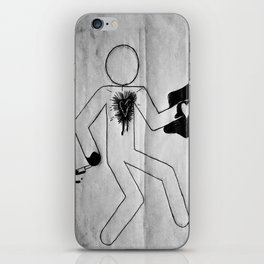 Body Outline iPhone Skin