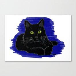 black cat 1 Canvas Print