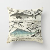 notebook Throw Pillows featuring Sealife Notebook by Common Design
