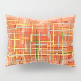 Abstract Orange Terminal Pillow Sham