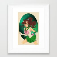 sailor jupiter Framed Art Prints featuring Sailor jupiter by Tae V