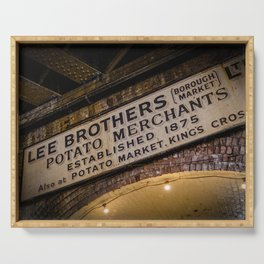 Lee Brothers Sign at Borough Market, London | Color | Street & Travel Photography | Photo Art Print Serving Tray