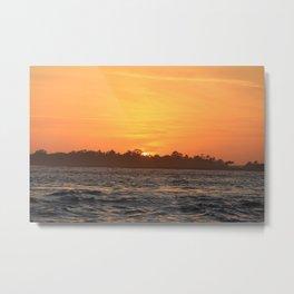 Tybee Island Sunset Metal Print