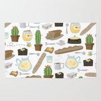 bread Area & Throw Rugs featuring Bread by Ceren Aksu Dikenci